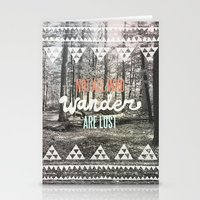 typography Stationery Cards featuring Wander by Wesley Bird
