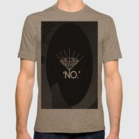 No. Mens Fitted Tee Tri-Coffee SMALL