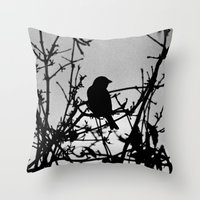 Silhouette Bird.  Throw Pillow