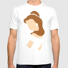 Belle - Beauty - Beauty and the Beast Mens Fitted Tee White SMALL
