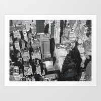 Art Print featuring nyc by sandra lee russell