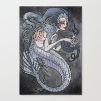 The Siren And The Seahor… Canvas Print