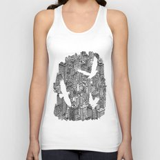 Ecotone (black & white) Unisex Tank Top