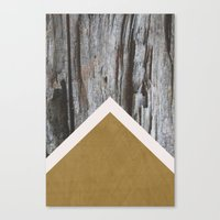 Wooded Chevron Canvas Print