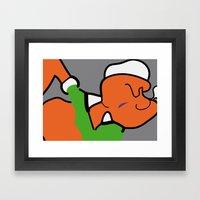 POPeye Framed Art Print