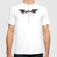 The Dark Knight Mens Fitted Tee White SMALL