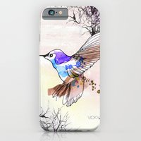 iPhone & iPod Case featuring Humming Bird by Vicky Ink.
