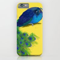 iPhone & iPod Case featuring The Beauty That Sleeps - Vertical Peacock Painting by Nicole Cleary