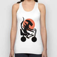 Alien On A Chopper Unisex Tank Top
