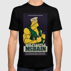 McBain Black Mens Fitted Tee SMALL