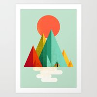 Little Geometric Tipi Art Print