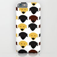 iPhone & iPod Case featuring Labrador dog pattern by Verene Krydsby