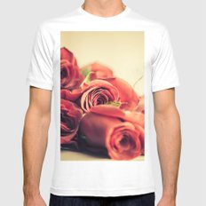 A Dozen Roses Please White SMALL Mens Fitted Tee
