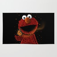 Elmo and Little Butterfly Rug