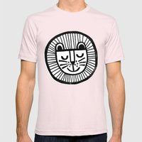 HAPPY LION Mens Fitted Tee Light Pink SMALL