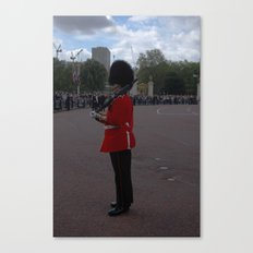 A Guard Stands to Attention 2 Canvas Print