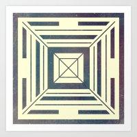 Space Square Art Print