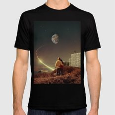 We Used To Live There, Too Mens Fitted Tee Black SMALL