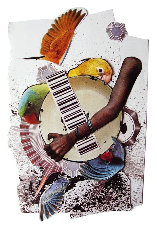 Birds of a feather | Collage Art Print