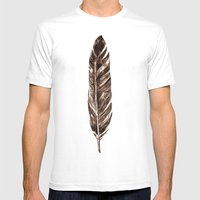 Feather Mens Fitted Tee White SMALL