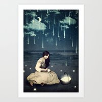 A Basket Of Wishes Art Print
