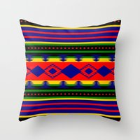 Aztec Summer Throw Pillow