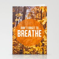 Don't Forget To Breathe Stationery Cards