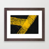 Asphalt 1 Framed Art Print