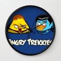 Angry Trekkies - Angry Birds vs Star Trek Wall Clock