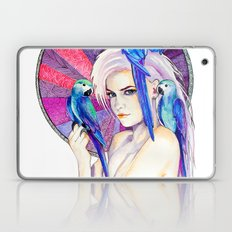 Girl with Parrots Laptop & iPad Skin