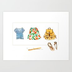 Summer Adventures Art Print