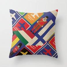 EU Travel Poster Throw Pillow