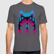 Wolf CMYK Mens Fitted Tee Asphalt SMALL