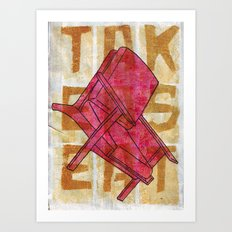Come On In...Take A Red Seat Art Print