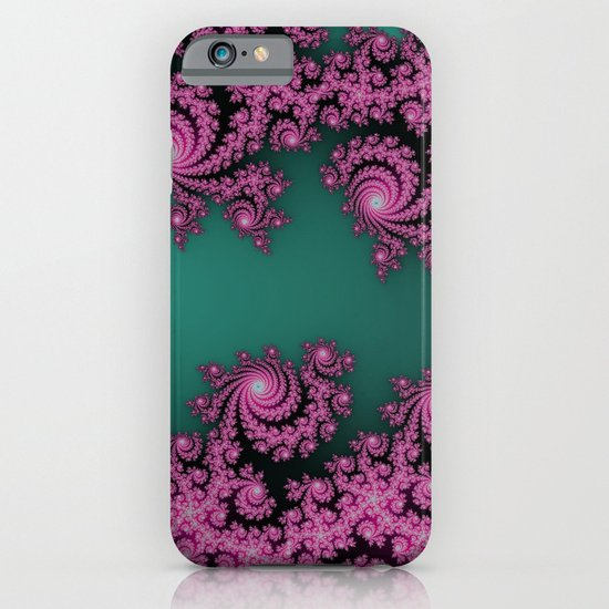Fractal in Dark Pink and Green iPhone & iPod Case