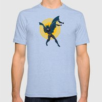the Bat dude Mens Fitted Tee Tri-Blue SMALL