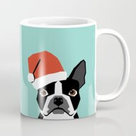 Xmas Boston Terrier Sant… Mug