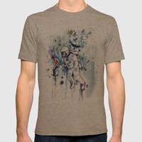 Heretic Astronut Mens Fitted Tee Tri-Coffee SMALL