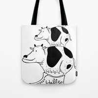 Tote Bag featuring cow baby by ⓢⓘⓢⓢⓨⓟⓤⓝⓚⓨ