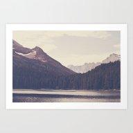 Art Print featuring Morning Mountain Lake by Kurt Rahn