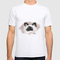 Crazy Siamese Mens Fitted Tee Ash Grey SMALL