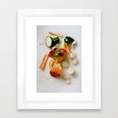 kitchen detritus. Framed Art Print