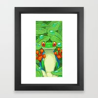 Frankie The Frog Framed Art Print
