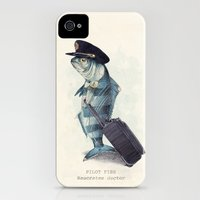 iPhone 4s & iPhone 4 Cases featuring The Pilot by Eric Fan