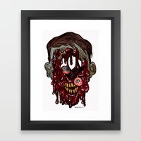 Heads of the Living Dead Zombies: Still Walking Zombie Framed Art Print