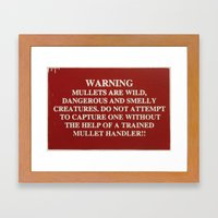 Danger Mullet Framed Art Print