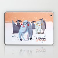 :::Happy Yetis::: Laptop & iPad Skin