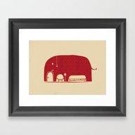 Elephanticus Roomious Framed Art Print