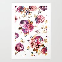 VINTAGE FLOWERS XXXIV - for iphone Art Print