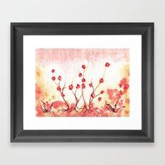 Cherry Field Framed Art Print